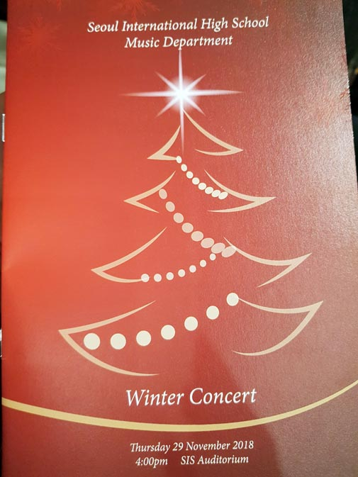 The High School Winter Concert at SIS