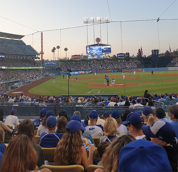 Summer Baseball Games at Dodger Stadium